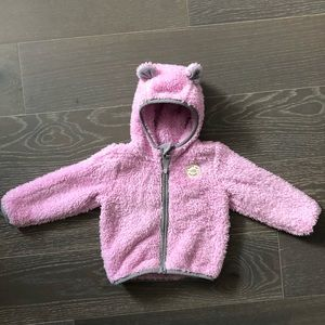 The North Face infant plushee bear hoodie 18-24mth